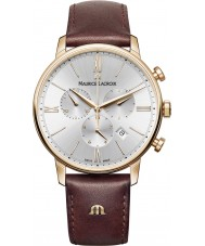 Maurice Lacroix EL1098-PVP01-111-1 Mens Eliros marrone la vigilanza di cuoio del cronografo