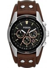 Fossil CH2891 Mens cocchiere orologio cronografo in pelle marrone
