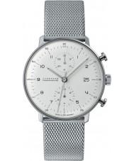 Junghans 027-4003-44 Max Bill orologio automatico cronoscopio argento