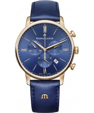 Maurice Lacroix EL1098-PVP01-411-1 Mens Eliros pelle blu orologio cronografo cinturino