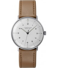 Junghans 027-3701-00 Max Bill orologio meccanico tan handwinding marrone
