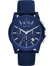 Armani Exchange AX1327 orologio cronografo blu silicone Sport