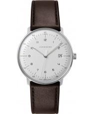 Junghans 041-4461-00 Max Bill orologio cinturino in pelle marrone