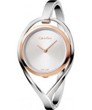 Calvin Klein K6L2MB16 Dame di luce d'argento vigilanza del braccialetto d'acciaio