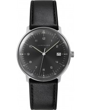 Junghans 041-4462-00 Max Bill orologio cinturino in pelle nera