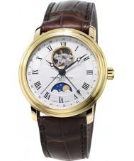 Frederique Constant FC-335MC4P5 classici Mens fase lunare orologio cinturino in pelle marrone