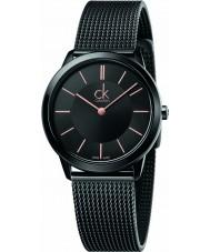 Calvin Klein K3M22421 Signore minimal orologio bracciale in maglia di acciaio nero