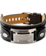 Fossil JF84816040 Mens cinturino in pelle nera casuale epoca