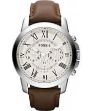 Fossil FS4735 Mens concedono orologio cronografo marrone