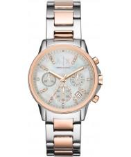 Armani Exchange AX4331 Ladies e rosa orologio d'oro vestito cronografo