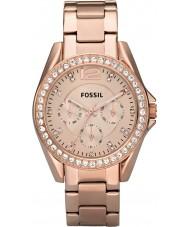 Fossil ES2811 Donne Riley rosa orologio cronografo in acciaio oro