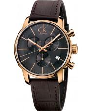 Calvin Klein K2G276G3 città Mens grigio orologio cronografo marrone