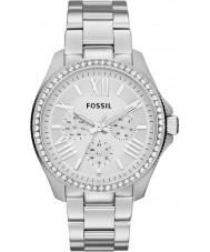 Fossil AM4481 Signore orologio cronografo in acciaio silver Cecile