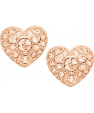Fossil JF01151791 Donna motivi annata rosa orecchini in acciaio oro