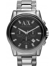 Armani Exchange AX2092 Mens Watch abito cronografo nero argento