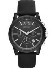 Armani Exchange AX1326 orologio cronografo silicone nero Sport