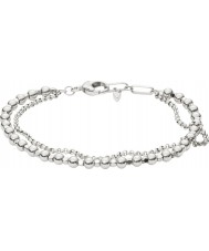 Fossil JA6775040 braccialetto di perline ottone argentato Abbigliamento donna