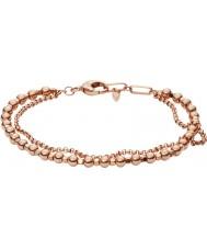 Fossil JA6776791 Abbigliamento donna rosa braccialetto di perline in ottone oro