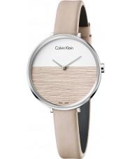 Calvin Klein K7A231XH Signore si alzano orologio cinturino in pelle beige