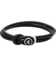 Emporio Armani EGS2212040 bracciali in pelle nera firma Mens