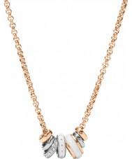 Fossil JF01122998 Donna classici rosa collana in acciaio oro