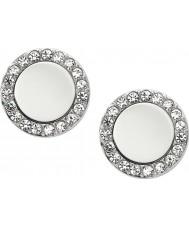 Fossil JF01791040 Signore orecchini d'argento classici in acciaio a specchio prigionieri