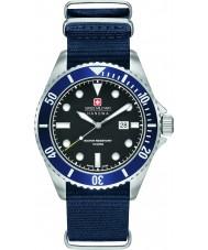 Swiss Military 6-4279-04-007-03 Mens mare leone orologio cinturino in nylon blu