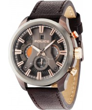 Police 14639JSBZU-61 orologio cinturino in pelle marrone Mens ciclone