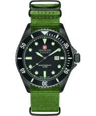 Swiss Military 6-4279-13-007 Mens mare leone orologio cinturino in nylon verde