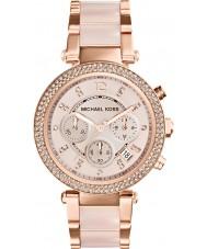 Michael Kors MK5896 Donne Parker rosa placcato in oro orologio cronografo