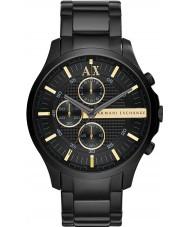 Armani Exchange AX2164 Mens tutta la vigilanza vestito nero cronografo