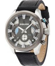 Police 14639JSTU-04 ciclone Mens Watch cinturino in pelle nera