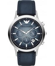 Emporio Armani AR2473 Mens Watch blu argento classico cronografo