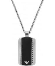 Emporio Armani EGS1921040 Mens velluto elegante collana in acciaio di due toni
