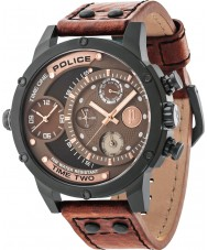 Police 14536JSB-12A orologio cinturino in pelle marrone Mens vipera