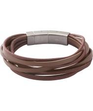 Fossil JF86202040 Mens braccialetto marrone più avvolgente