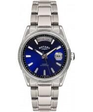 Rotary GB02660-05 Mens orologi avana orologio d'argento blu
