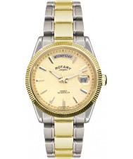 Rotary GB02661-20 orologio d'oro d'argento Mens orologi avana