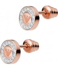 Emporio Armani EG3054221 Signore puro 18ct aquila rosa placcato oro orecchini
