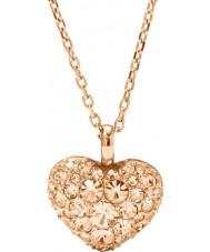 Fossil JF01156791 Donna motivi annata rosa collana in acciaio oro
