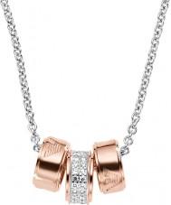 Emporio Armani EG3045040 Donne firma Collana in oro rosa con catena in argento rolo
