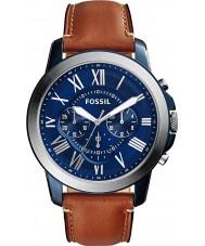 Fossil FS5151 Mens concedono marrone la vigilanza di cuoio del cronografo