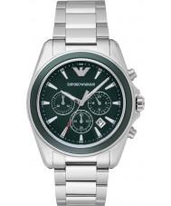 Emporio Armani AR6090 Mens d'argento verde orologio sportivo cronografo
