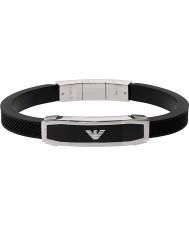 Emporio Armani EGS1543040 intarsio Mens braccialetto nero