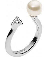Emporio Armani EG3288040-6.5 Donne deco perle anello in argento sterling - dimensioni m.5