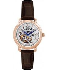 Rotary GS90505-06 Mens les originales Giura scheletro automatico rosa orologio d'oro