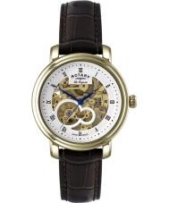 Rotary GS90506-06 Mens les originales Giura orologio d'oro scheletro automatica