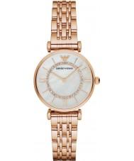 Emporio Armani AR1909 Signore rosa orologio vestito bracciale a maglie in oro placcato