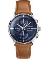 Junghans 027-4526-01 Meister conducente cognac orologio automatico marrone cronoscopio