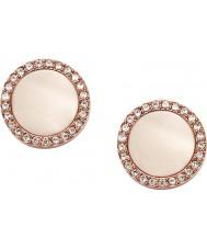 Fossil JF01715791 Abbigliamento donna rosa Orecchini in acciaio oro